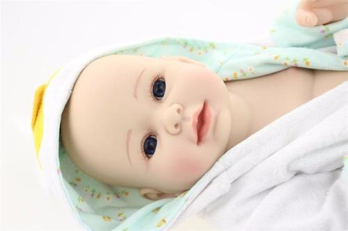 bebe reborn 100% silicone menino 50cm  frete grátis-2
