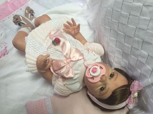 bebe reborn ana clara toda de vinil siliconado ref 500