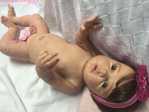bebe reborn ana clara todo de vinil siliconado ref 500