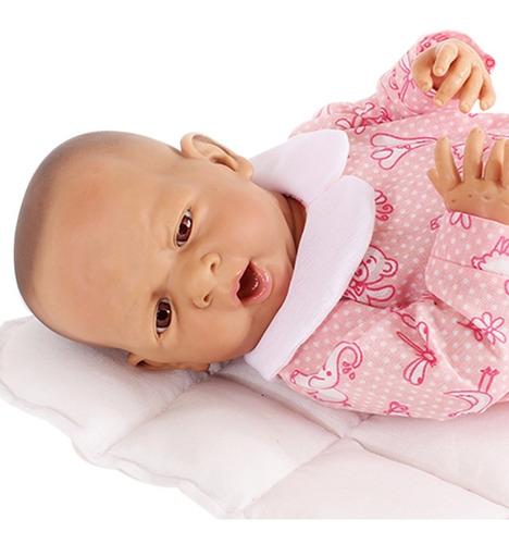 bebe reborn argentina bebote real + batita almohada chupete