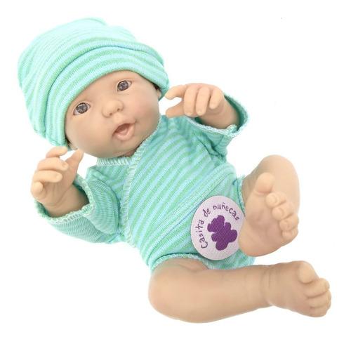 bebe reborn argentina bebote real mini con body y gorrito