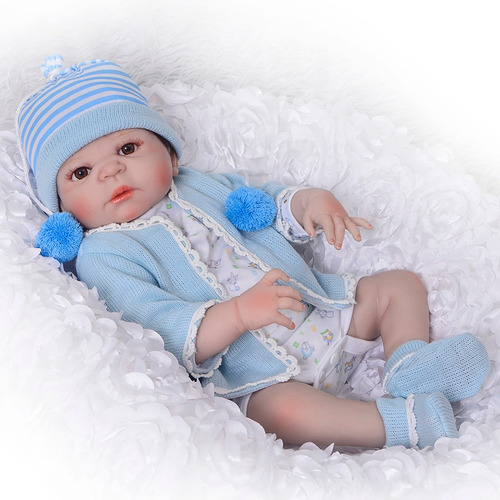 bebe reborn arthur menino todo em silicone 55cm +  1 brinde