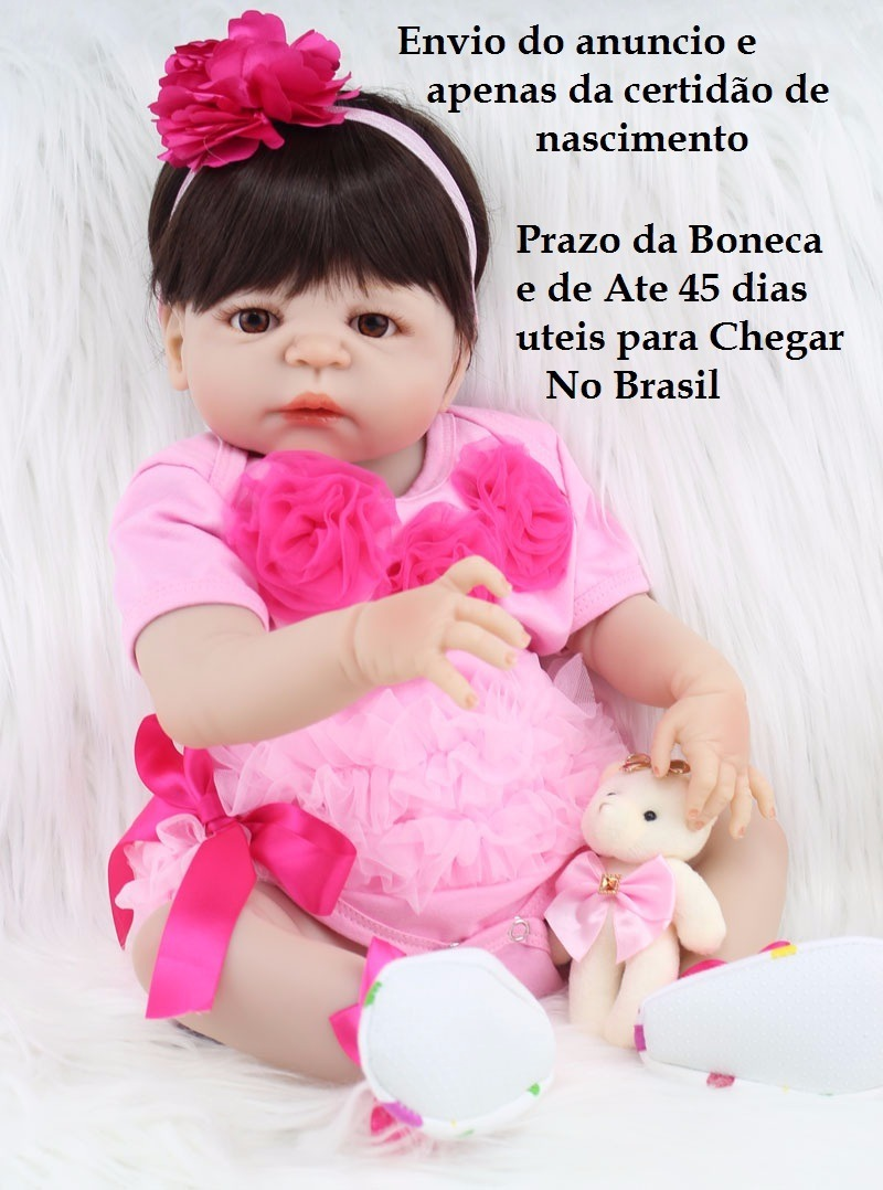 dd2daa89dae3 bebe reborn-boneca menina realista-100% pode dar banho . Carregando zoom.