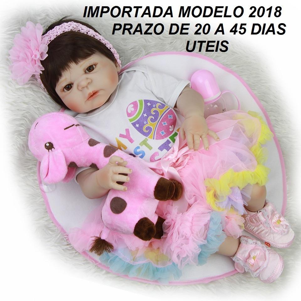 8ac0ba87837a bebe reborn-boneca menina realista pode dar banho mod 2018. Carregando zoom.