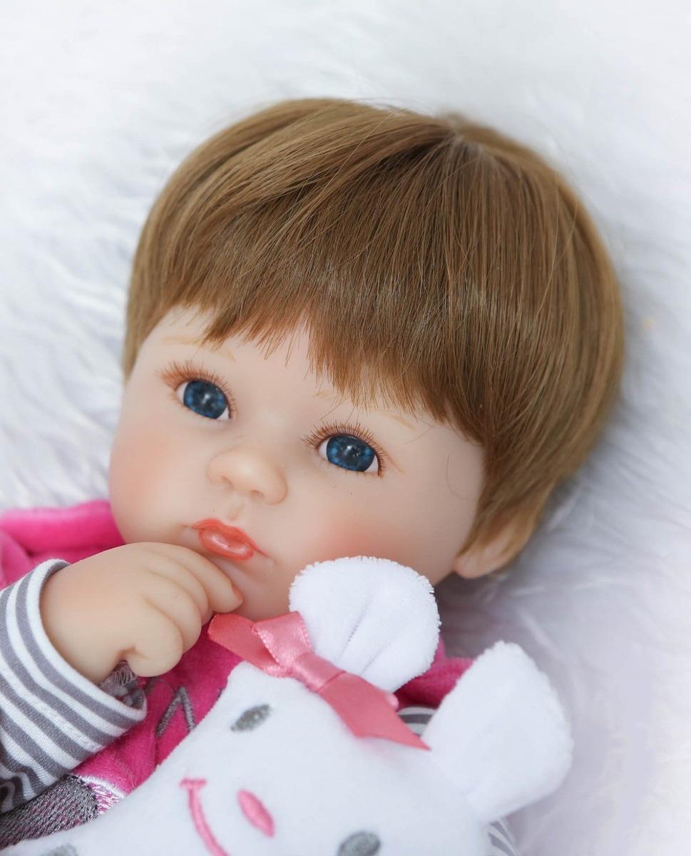 bebe reborn boneca realista menina larinha rosa 42cm barato r 319 90 em mercado livre. Black Bedroom Furniture Sets. Home Design Ideas