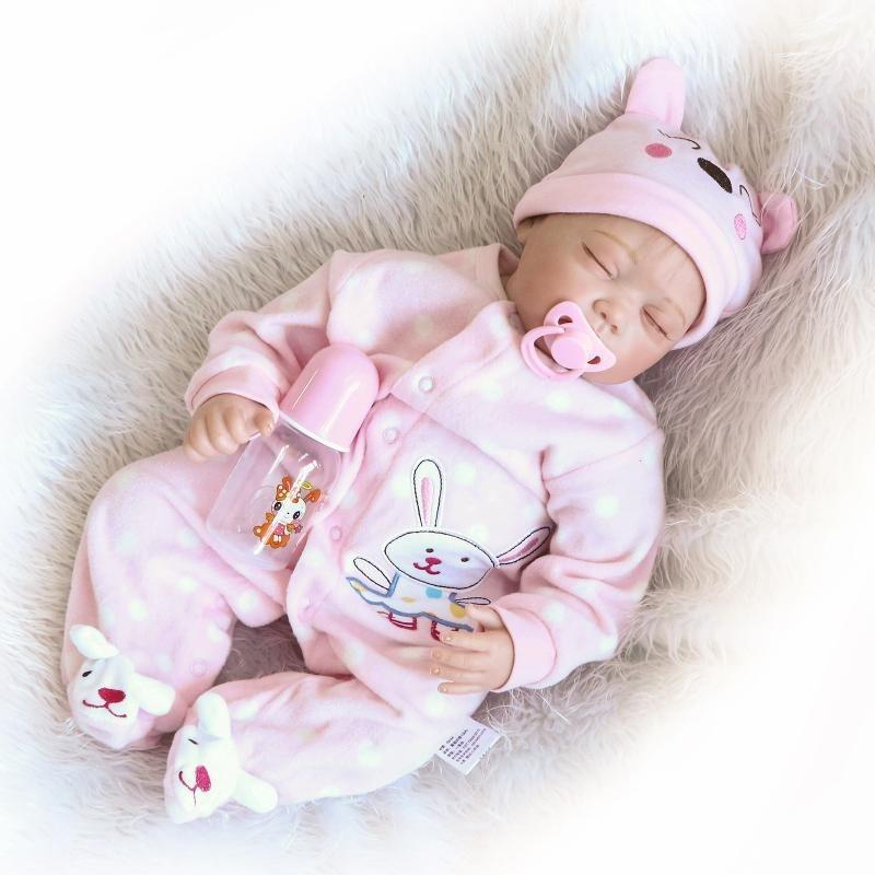 406473dc5 Bebe Reborn Boneca Reborn Olhos Fechados 55 Centímetros - R  599
