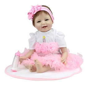 b341f563cb0dd0 Bebe Reborn Boneca Silicone Menina Realista Pronta Entrega