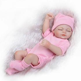 Bebé Reborn De Silicón, Sexo Femenino Y Ropa Rosada