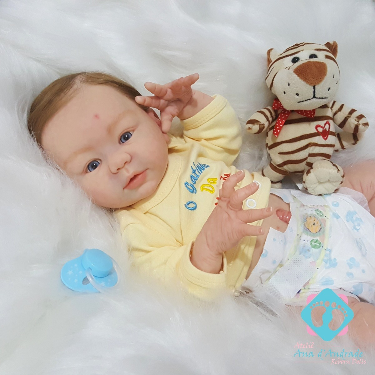 f50a27709 bebe reborn guilherme menino corpo inteiro vinil siliconado. Carregando  zoom.