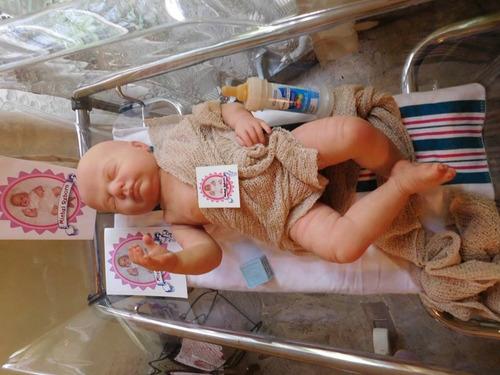 bebe reborn hiperrealista anatomicamente sexado niño