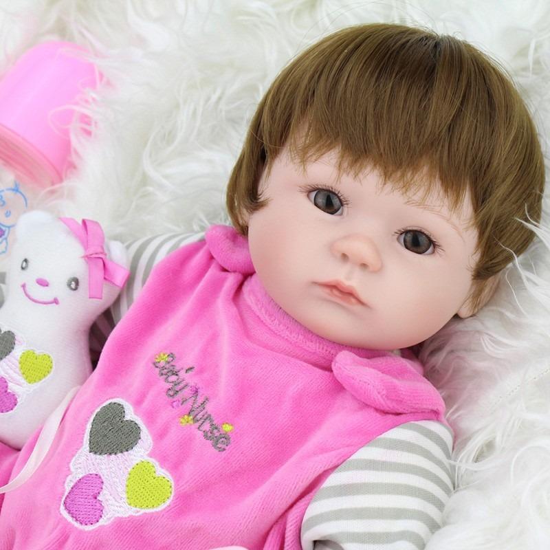 d9d1077eaf bebe reborn lbc boneca silicone menina realista. Carregando zoom.