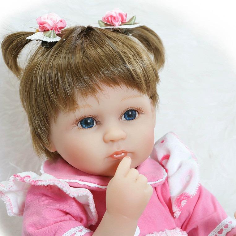 26d051fd67 Bebe Reborn Lbc Boneca Silicone Menina Realista Pink - R  599