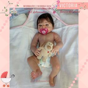 cba37480a Bebe Reborn Victoria - Bonecas Reborn no Mercado Livre Brasil