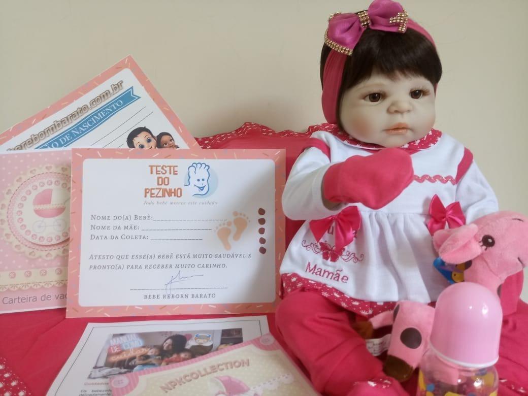 464eab3360 bebe reborn menina silicone barato promoção enxoval 18 ítens. Carregando  zoom.