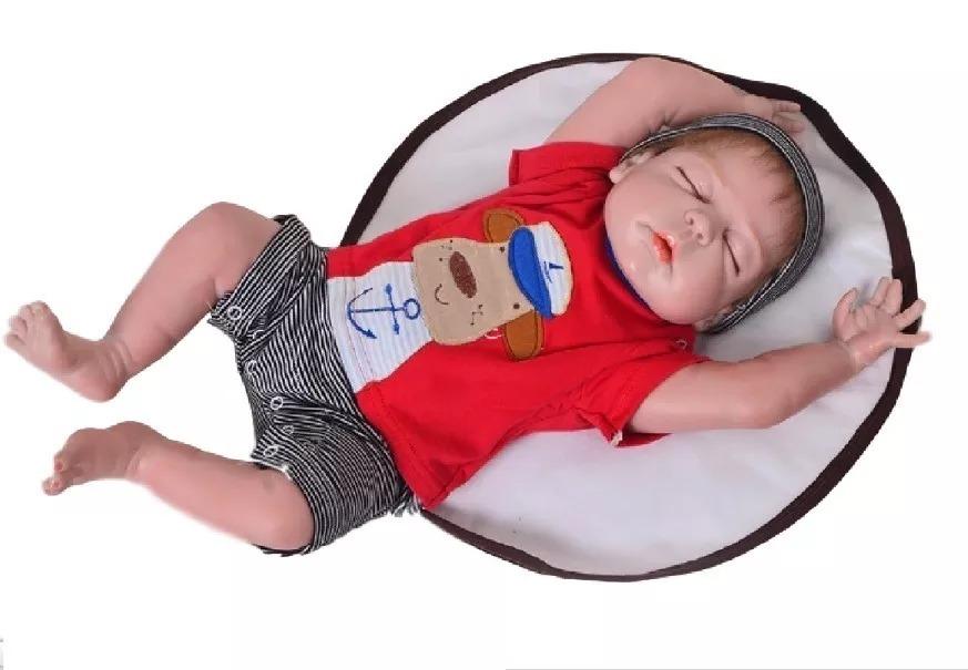 Bebe Reborn Menino 100% Silicone Pronta Entrega Frete Gratis - R  450,00 em  Mercado Livre 4a68c68dc8e
