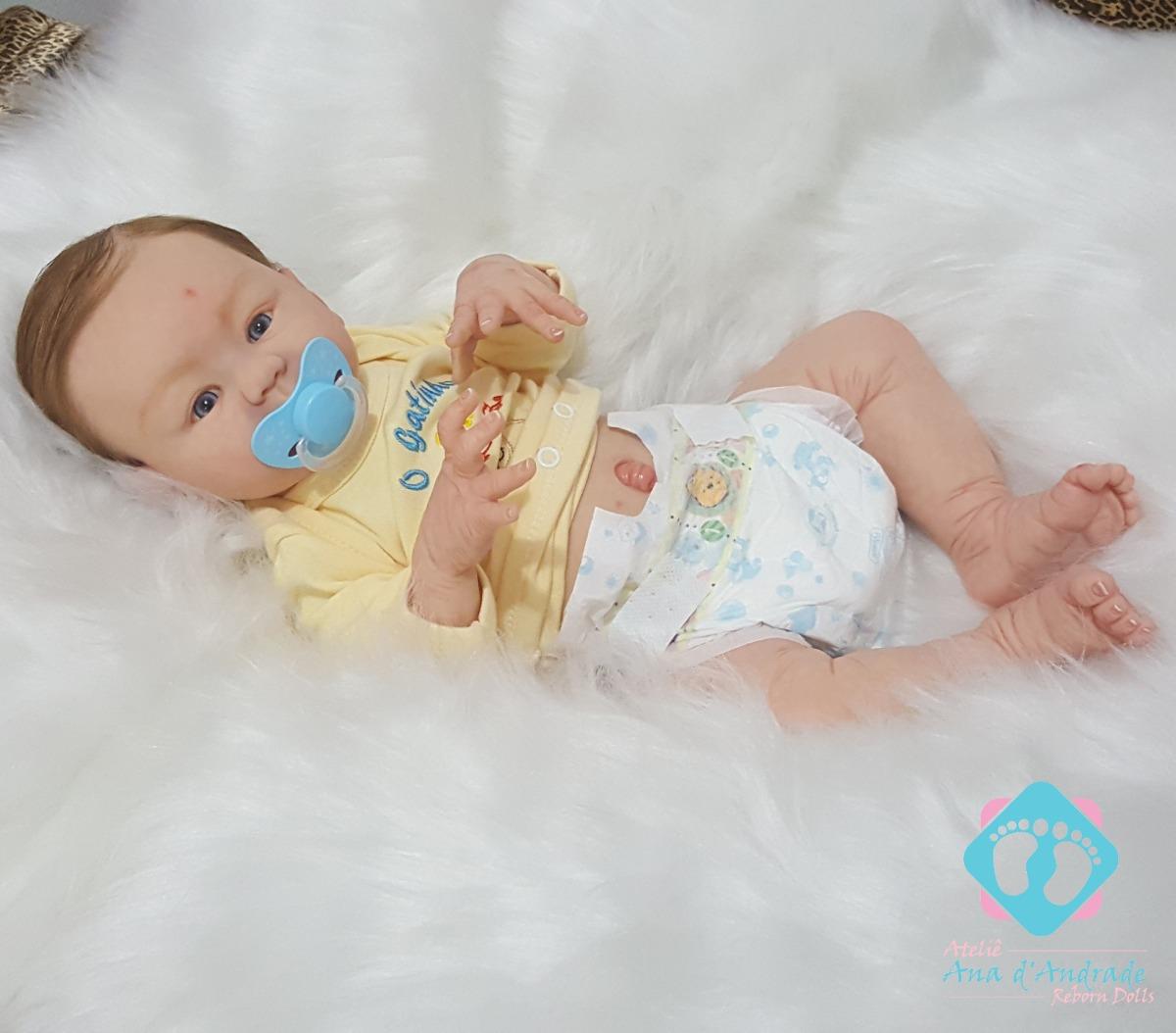 875960d0d bebe reborn menino guilherme corpo inteiro em vinil. Carregando zoom.