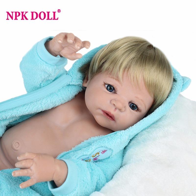 f8506b6a4 bebe reborn menino lindo acordado boneca 55 cm silicone. Carregando zoom.