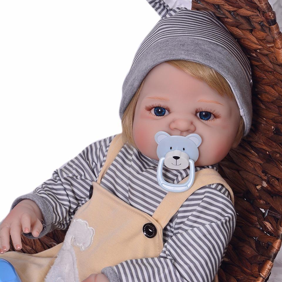 8c336c011 bebe reborn menino loiro boneca pronta entrega 100% silicone. Carregando  zoom.