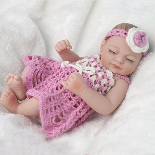 bebé reborn muñeca simulado 25cm cuerpo completo de silicona