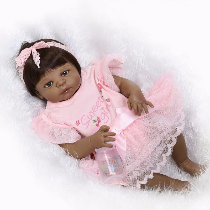 Bebe Reborn Negra Morena Boneca 57 Cm 100 Vinil Encomenda