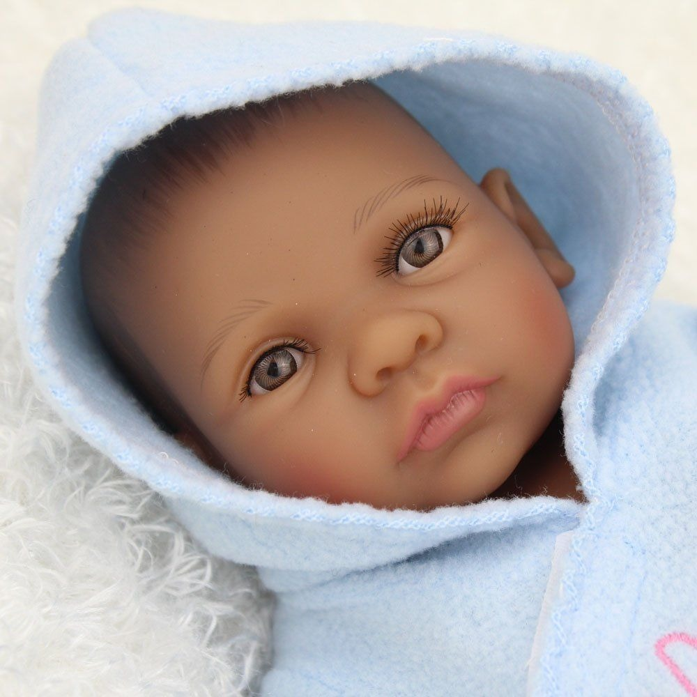Beb 233 Reborn Negrito Mameluco Az Todo De Vinil De Silic 243 N