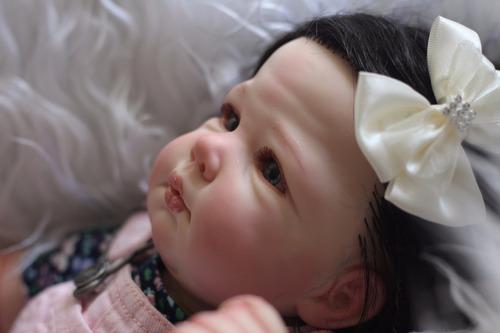 bebe reborn pronta entrega hanna enxoval completo
