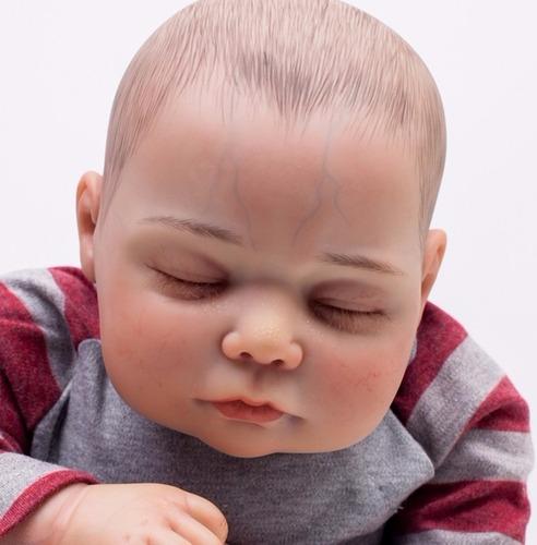 bebe reborn real com veias 50 cm r$ 595,00 boneca perfeita