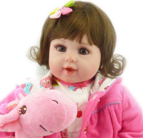 bebe reborn realista 50cm linda menina