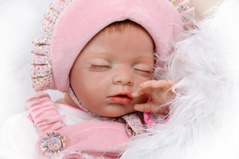 Bebe Reborn Super Realista Olhos Fechados Boneca Menina
