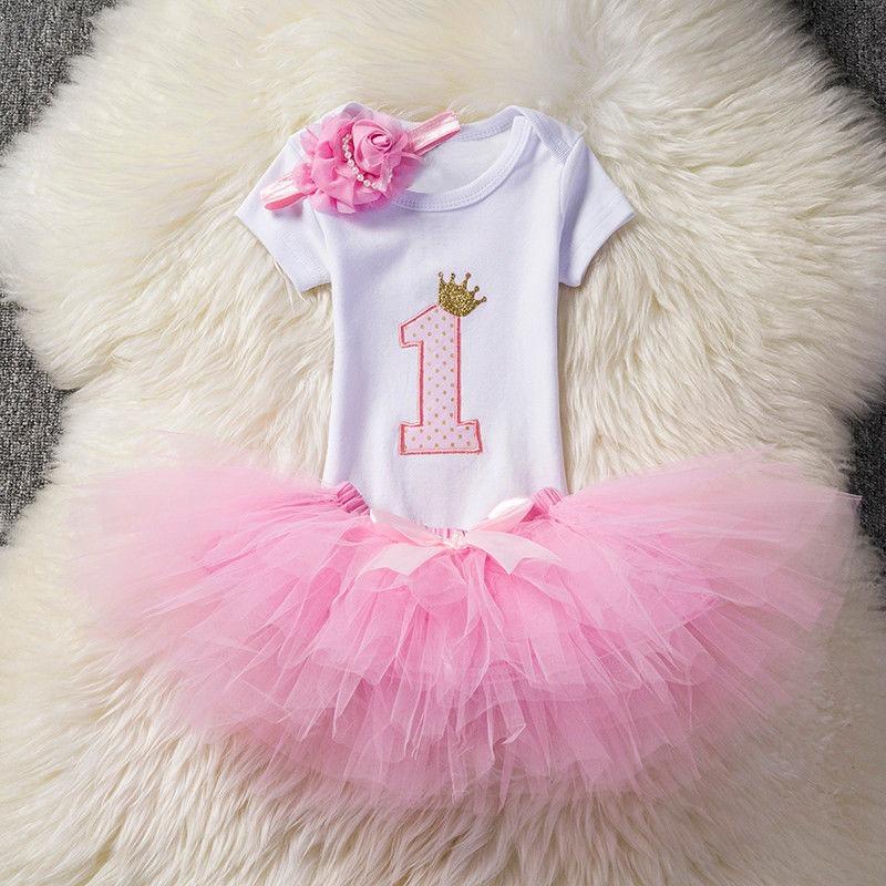 1c190b47be3b bebé recién nacido niña 1er cumpleaños vestido trajes tutu. Cargando zoom.