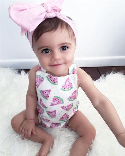 Bebé Recién Nacido Niña Mono Verano Sandía... (0-6 Months ... c627d5d837d