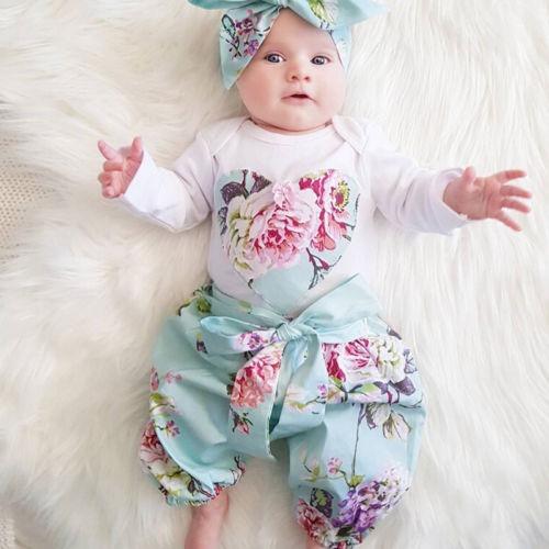 Bebé Recién Nacido Niña Ropa Floral Mono Mameluco... (80cm ... f6ac915f944