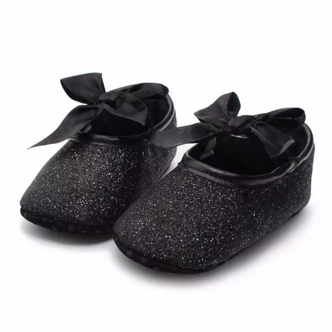 294ef612771 Bebe Zapatos Brillos Elegante Niña Negros Fiesta Accesorios ...