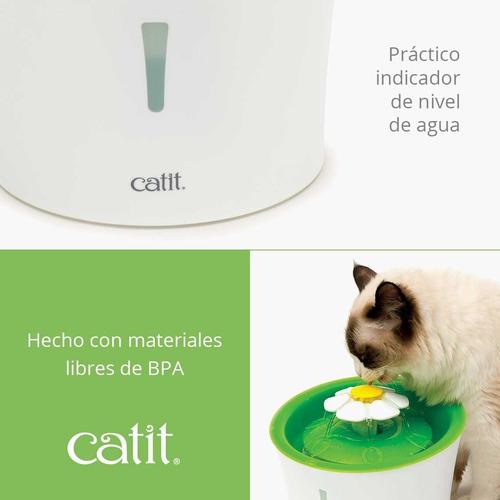 bebedero fuente gatos catit flower fountain 3lt mascotas