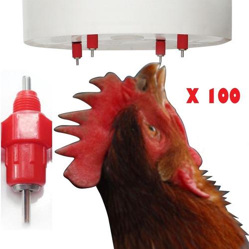 bebedero niple pollo, x 100 unidad entrega inmediata!