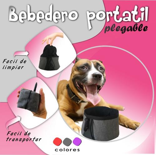 bebedero portátil / plegable / mascotas