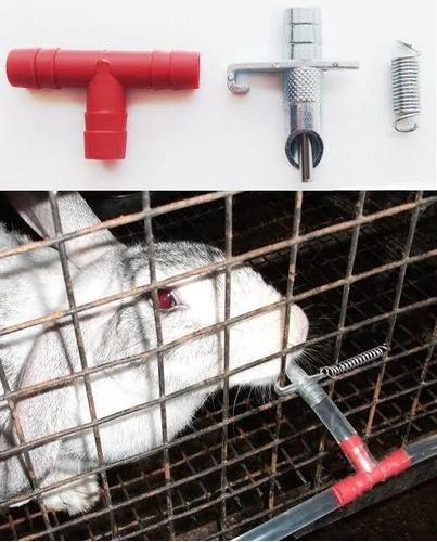 bebederos automaticos para conejos y cuyes. niple