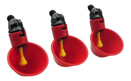 bebederos automáticos para pollos codorniz tipo copa