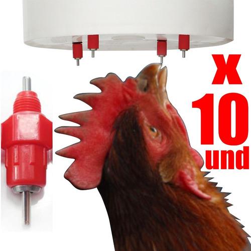 bebederos tipo niple para pollos aves pack x 10 unidades