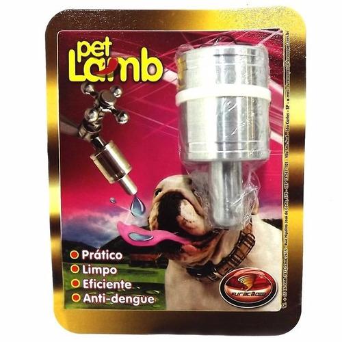 bebedouro automático de torneira p/ cães cachorros alumínio
