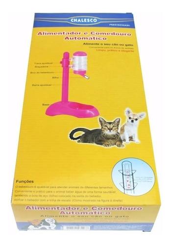 bebedouro+ comedouro cães gatos bico lambe bilha  chalesco