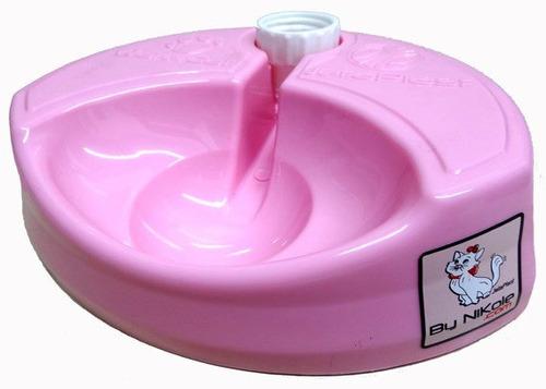 bebedouro galileos club jetaplast para gatos - rosa