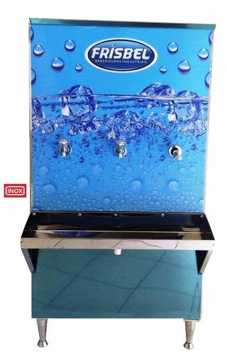 bebedouro industrial coluna 2 torneira + 1 esguic 100 litros