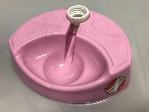 bebedouro inteligente cães e gatos water cat rosa não fonte