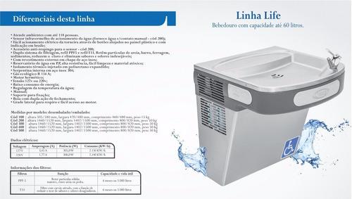 bebedouro refrigerado industrial filtro sensor 60 l canovas