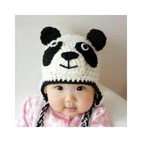5b0d281f8f624 Gorros Tejidos A Crochet Para Niños Oso Panda 1-3 Años