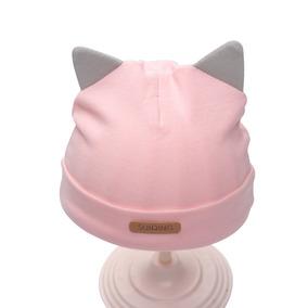 d725331955c78 Gorro Para Bebé Orejas Gato Algodón Recién Nacido 0-3 Meses