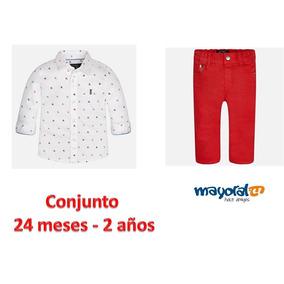 8dd465c75 Conjunto Camisa Manga Larga Y Pantalón Mayoral Niño 24 Meses