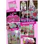 Combo Fiesta Barbie,disfraz, Carameleras, Velas Y Decoración