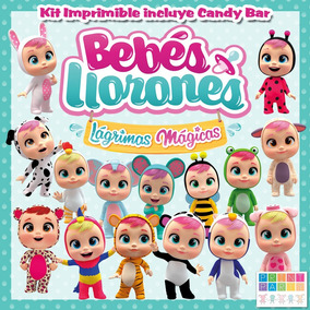 Bebés Llorones Lm Kit Imprimible Personalizado Con Candy Bar